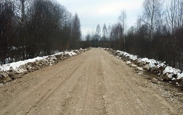 Отремонтирован подъезд к д. Пищулино
