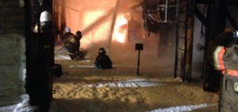 Ночью в Уфе горело здание насосной станции