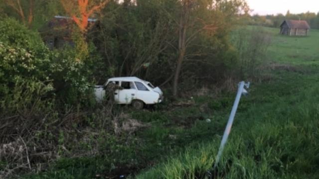 ВНекрасовском районе автомобиль вылетел вкювет: есть пострадавшие