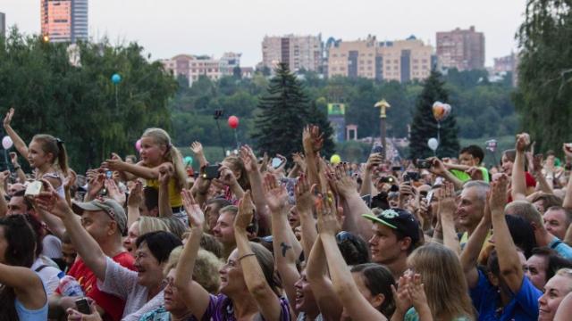 Олег Газманов выступил с концертом в Донецке