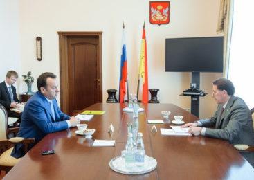 Состоялась встреча губернатора Воронежской области с Председателем Центрально-Черноземного банка ПАО Сбербанк Владимиром Салминым