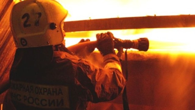В Курской области в ресторане «Айсберг» случился пожар