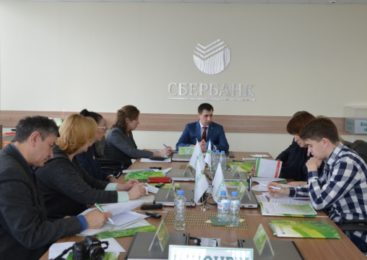Управляющий Воронежским отделением ПАО Сбербанк Денис Скребец провел брифинг для журналистов региональных СМИ