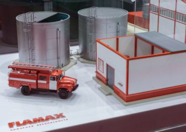 На выставке «SECURIKA/MIPS -2018» было представлено три варианта размещения резервуаров FLAMAX