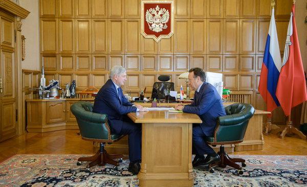 Председатель Центрально-Черноземного банка встретился с врио губернатора Воронежской области