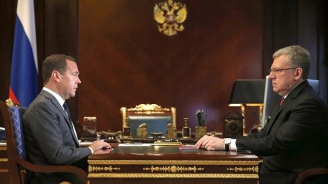 Дмитрий Медведев провел рабочую встречу с Председателем Счетной палаты Алексеем Кудриным
